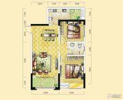远达天际上城2室2厅1卫87平方米户型图