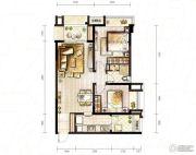 万科城2室2厅0卫65平方米户型图