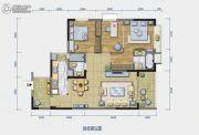 中珠・在水一方3室2厅2卫113平方米户型图