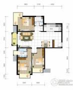 北京城建・世华泊郡3室2厅2卫129平方米户型图