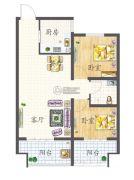 赛福特・花语海2室2厅1卫65平方米户型图