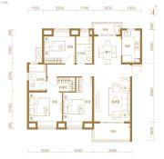 东湖金茂府3室2厅2卫114平方米户型图