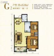 万邦城21室2厅1卫85平方米户型图