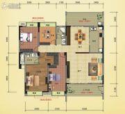 榕江明珠4室2厅2卫199平方米户型图
