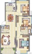 梧桐公馆3室2厅2卫110平方米户型图