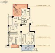 金轮星光名座生活广场2室2厅1卫77平方米户型图
