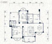 誉城国际2室2厅1卫125平方米户型图