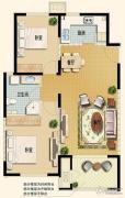 世嘉光织谷2室2厅1卫95平方米户型图