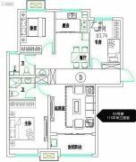 安联生态城3室2厅2卫115平方米户型图