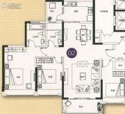 敏捷金月湾3室2厅2卫125平方米户型图