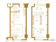 泉景天沅LOFT1室1厅1卫51平方米户型图
