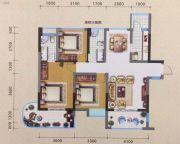 宏源领地3室2厅2卫113平方米户型图