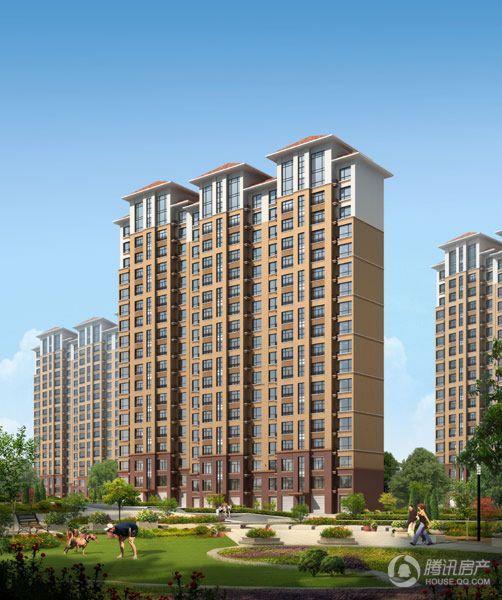 头道沟棚户区改造项目A5区点式高层住宅效果图