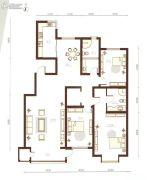 巨华世纪城3室2厅2卫152平方米户型图