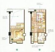 蓝天广场1室1厅1卫51--60平方米户型图