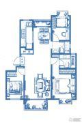 大华朗香花园3室2厅2卫120--122平方米户型图