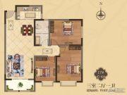 美伦・香颂3室2厅1卫107平方米户型图