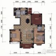 东方名城2室2厅2卫135平方米户型图