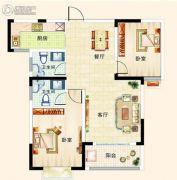 梓山豪苑2室2厅2卫93平方米户型图