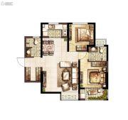 上和郡2室2厅2卫88平方米户型图