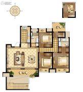 万科维园3室2厅2卫132平方米户型图