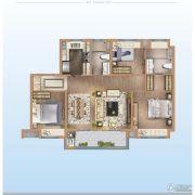 万科金域澜湾3室2厅2卫0平方米户型图