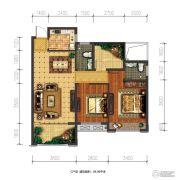 兴盛天鹅堡2室2厅2卫84平方米户型图
