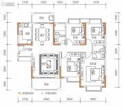 保华铂郡4室2厅2卫136平方米户型图