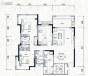 誉城国际2室2厅1卫108平方米户型图