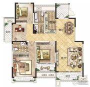 冠景瑞园4室2厅2卫143平方米户型图