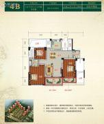 金色阳光花园2室2厅2卫122平方米户型图