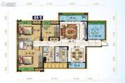 宜化绿洲新城3室2厅2卫108平方米户型图