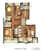 光明檀府4室2厅2卫139平方米户型图