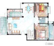 华英・翠湖居2室2厅1卫80--140平方米户型图
