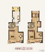 龙鸿怡家3室1厅2卫0平方米户型图