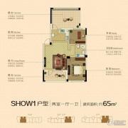 澳海澜庭2室1厅1卫65平方米户型图