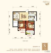 梧州旺城广场2室2厅1卫74平方米户型图