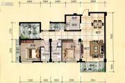 天立国际2室2厅2卫107平方米户型图