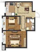 中国城建伦敦公元2室1厅1卫60平方米户型图