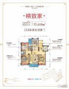 桂阳碧桂园3室2厅2卫115平方米户型图