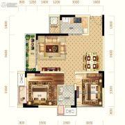 中亿阳明山水1室2厅1卫62平方米户型图