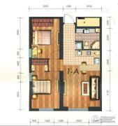 凯旋银河线2室2厅1卫88平方米户型图