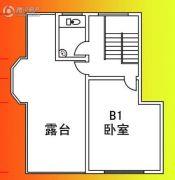 仙玺台1室1厅1卫50平方米户型图