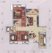 萝岗奥园广场3室2厅1卫97平方米户型图