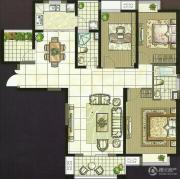 世茂香槟湖3室2厅2卫135平方米户型图