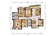 时代御京新城4室2厅3卫157平方米户型图