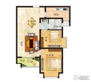 亚星江南小镇2室2厅1卫89平方米户型图