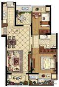 金地湖城艺境3室2厅1卫85平方米户型图