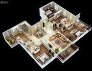 紫薇・睿纳时代3室2厅2卫129平方米户型图