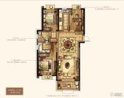 万达华府・大公馆3室2厅2卫134平方米户型图